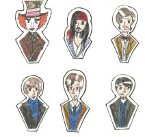 stickers-actors by hatoola13