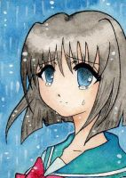 ACEO - Teardrops or Rain by Yenni-Vu