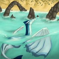The sound of waves - 2nd commish AdmiralNautilus by Amber100