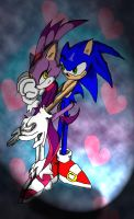 Sonic and Blaze colored by MauEvig