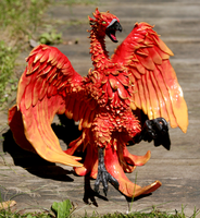 Phoenix Sculpture by Niicchan