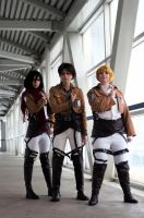 Attack on Titan: Main Trio by DMinorChrystalis