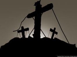 Cross Silhouet by SaviourMachine