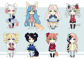 Adoptables 2 (CLOSED) by Aaeruu