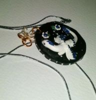 starry night Selene pendant by Aireane01