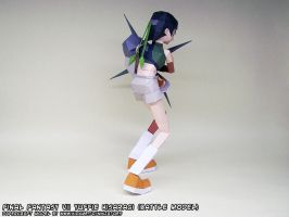 Papercraft Final Fantasy VII Yuffie backside by ninjatoespapercraft