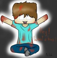 Herobrine wants a hug! (Minecraft) by LulaFrow