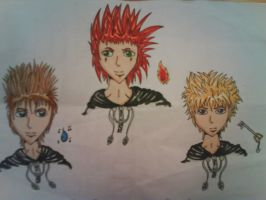 Axel, Roxas and Demyx by delightfuliza