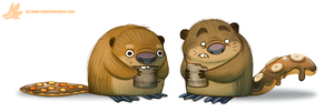 Daily Paint #1058. Beaver Tails by Cryptid-Creations