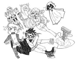Teen Titans is totes my childhood WIP by michfranc