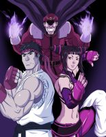 Unlikely Alliance Ryu + Juri by Shouhda
