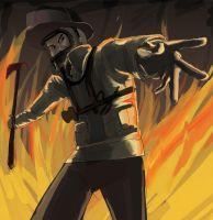 Firefighter hand and axe by chara89