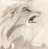 Roaring Simba by SolitaryGrayWolf