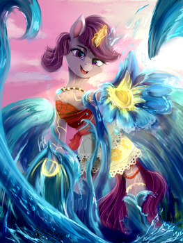 Sea princess (Moana+OC fusion) by DiscordTheGE