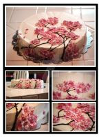 Cherry Blossom Cake by kitty-kit