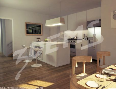 Project townhouse: Kitchen by aXel-Redfield