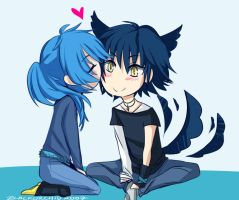 Ren and Aoba by blackorchid2007