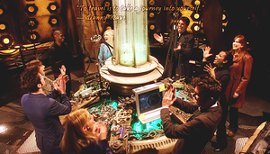 Doctor Who Wallpaper: Journey's End TARDIS Party by U-No-Poo