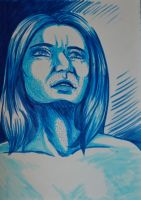 Woman in Blue by Nailita