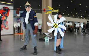 Cid Highwind cosplay and rinoa heartilly by aeris5312