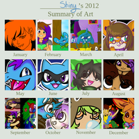 Art Summary of 2012 by CaptainButter