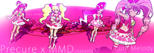 Cure Pink MMD by chatterHEAD