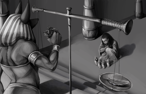 Judgement of Ani b+w by DevilsHaven