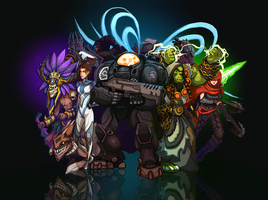 Blizzard All-Stars by Art-Calavera