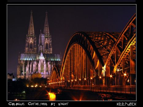 Cologne Cathedral by Night by KeenZick