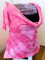 Bleach Heart Tie Dye Refashioned T-Shirt by ScarlettRoyale