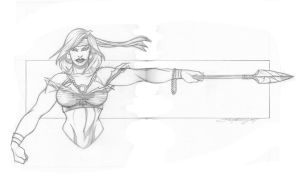 Messalina With Spear by jinn366