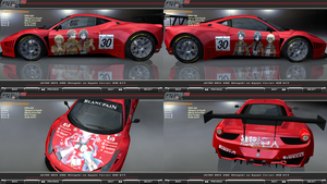 Attack On Titan Ferrari 458 GT3 Itasha by FAT8893