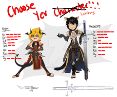 CHOOSE YOUR CHARACTERRR by Pharos-Chan