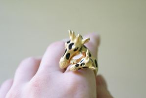 Giraffe Treasure Ring by MonsterBrandCrafts