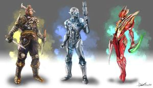 Sci-fi Characters design by Danielllee