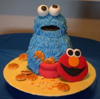 Cookie Monster Cake by lenslady
