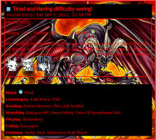 Red Demons Dragon Journal CSS by AESD