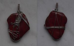 Wire wrapping pendant 5 by ShadeJewerly