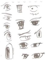 manga eyes by MehranPersia