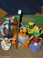 Spyro the Dragon ~ BOSS SET ~ Clay Figures by theclaygnorc
