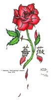 Rose Tattoo by Falconsong