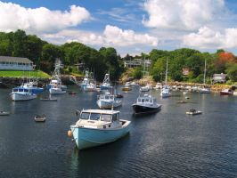 Beautiful Day at Perkins Cove by davincipoppalag