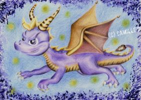 Spyro fanart from 2010 by FrenchTechnoKitten