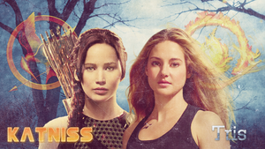 Katniss and Tris | Wallpaper by xNiciCupcake