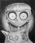Frankenweenie's Weird Girl.... and cat by Run-from-the-sun