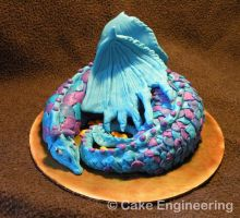Blue Dragon Cake by cake-engineering