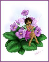 Flower Bug 03 - African Violet by Luthie13