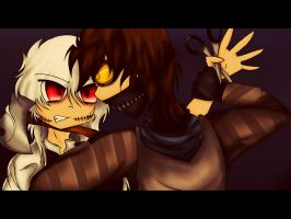 Ticci Toby And Scissor Mouth : Any Last Words? by DJambersky666