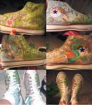 I painted my shoes by Audryan