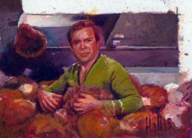 star trek 50th oil sketch 31 by charles-hall